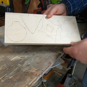 Tracing the Templates Onto Wood