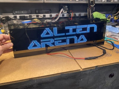 Laser Cut and Assemble the LED Marquee