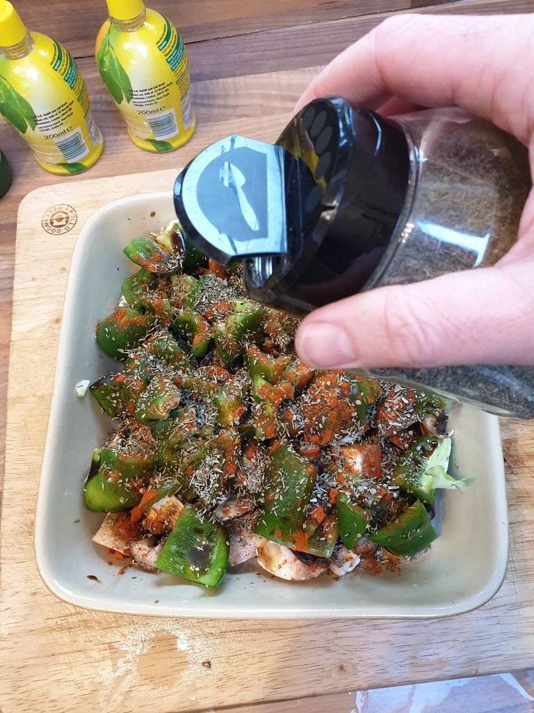 Picture of Add Oil, Vinegar, Herbs and Paprika