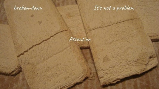 We Mark the Brick, Cut Out the Brick, Remove the Top Cardboard, Create a Brick Relief, Pay Attention.