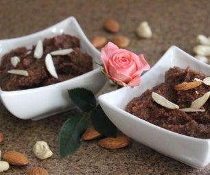 巧克力和小麦Halwa