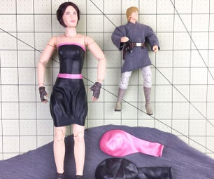 Action Figure Outfits From Cloth & Balloons