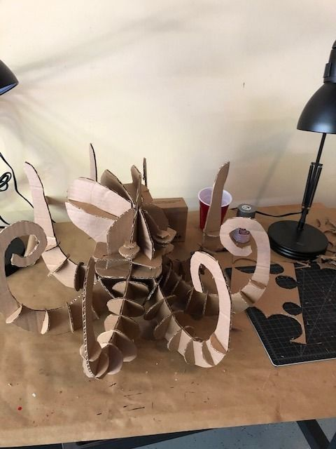 Picture of Just Cardboard: the Kraken Artistic Sculpture