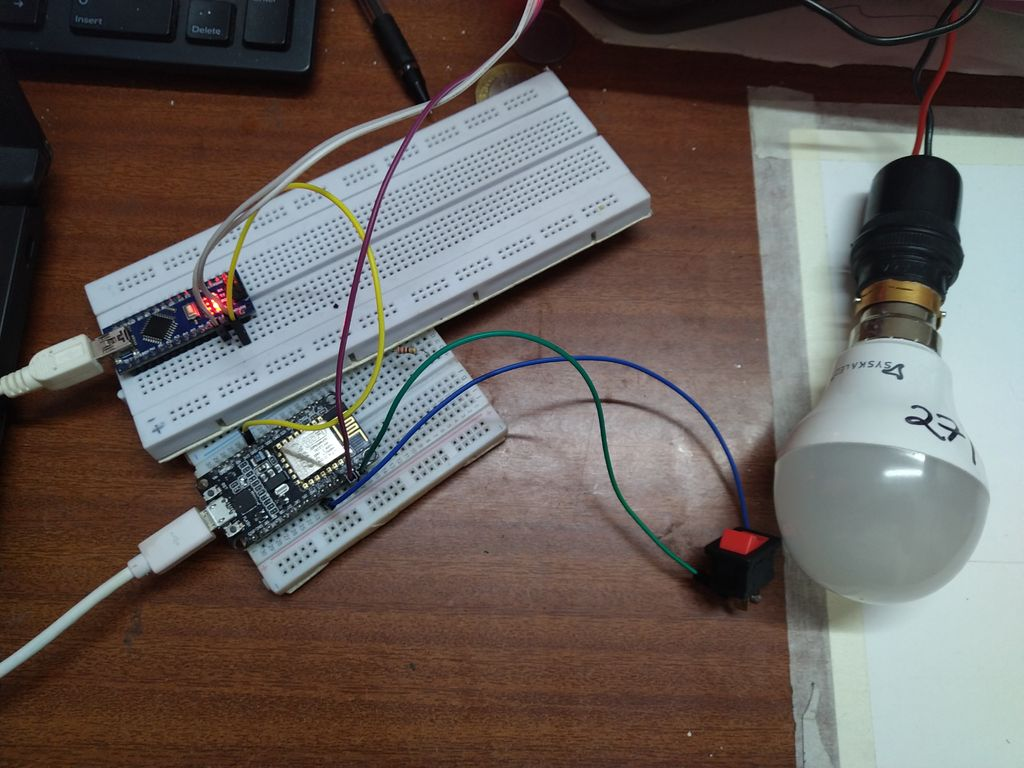Picture of Controlling AC Light Bulb.