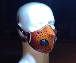Leather Face Mask (with Filter)