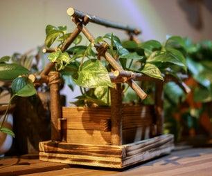 木制鸟屋花盆(与Tinkercad版)