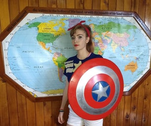 Captain America Shield From Wood With a CNC Machine