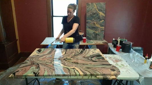 I Like to Use a Small Blow Torch to Remove Bubbles From My Painting.