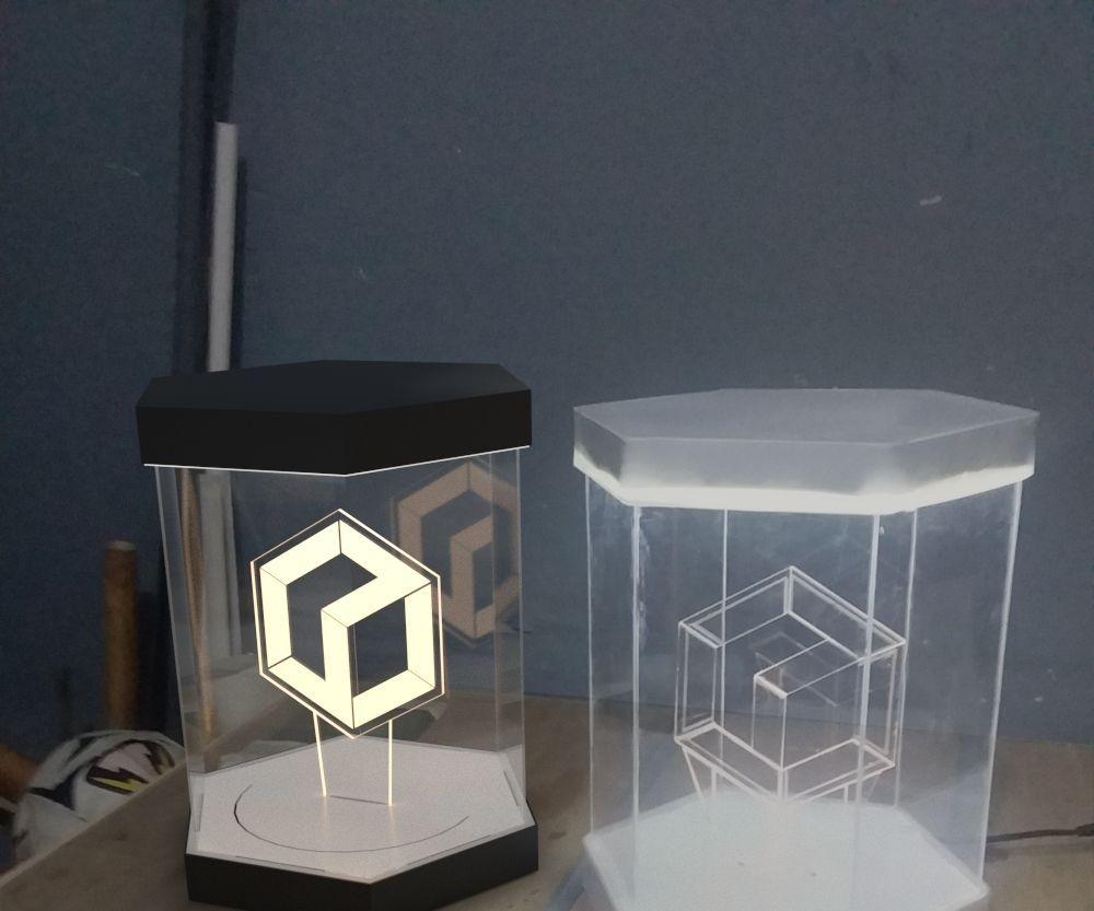 Glow K3D 2.0 Logo in Glowing Hexagonal Case