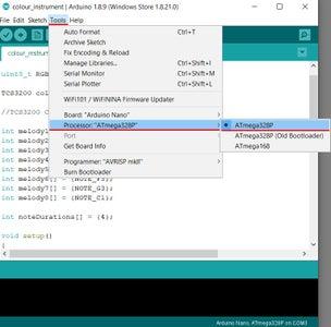 Uploading Code to Arduino