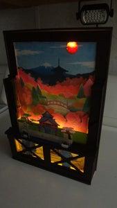 Japanese Themed Led Lit Landscapes With Depth.