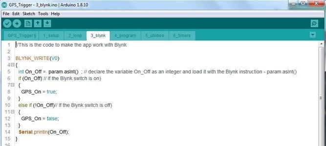 The Blynk Tab