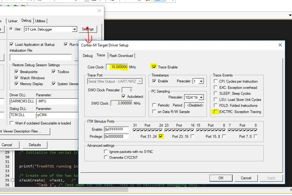 Picture of Configure ST-Link Debugger