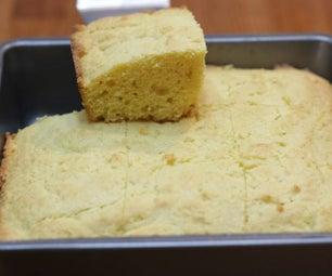 潮湿的甜玉米面包