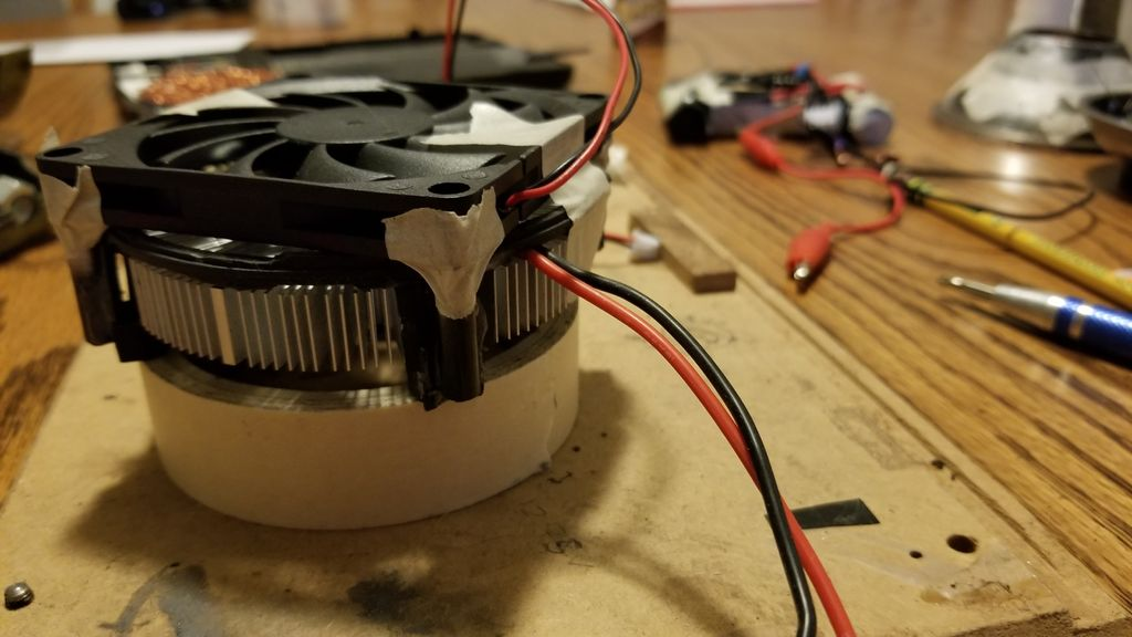 Picture of Mounting the LED, Driver, and Cooling Fan