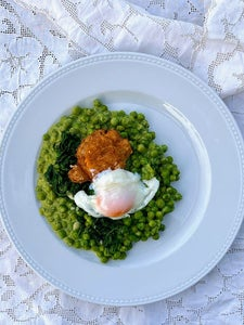 Peas, Spinach and Eggs