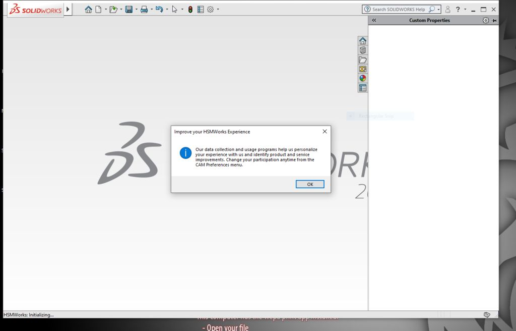 Picture of Creating and Importing a Design in SolidWorks