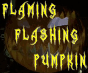Flaming Flashing Pumpkin