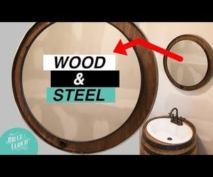 DIY Reclaimed Metal and Wood Mirror