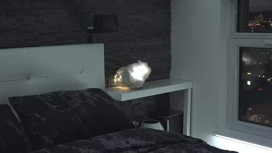 Test It Out Your Glowing Geode Lamp!