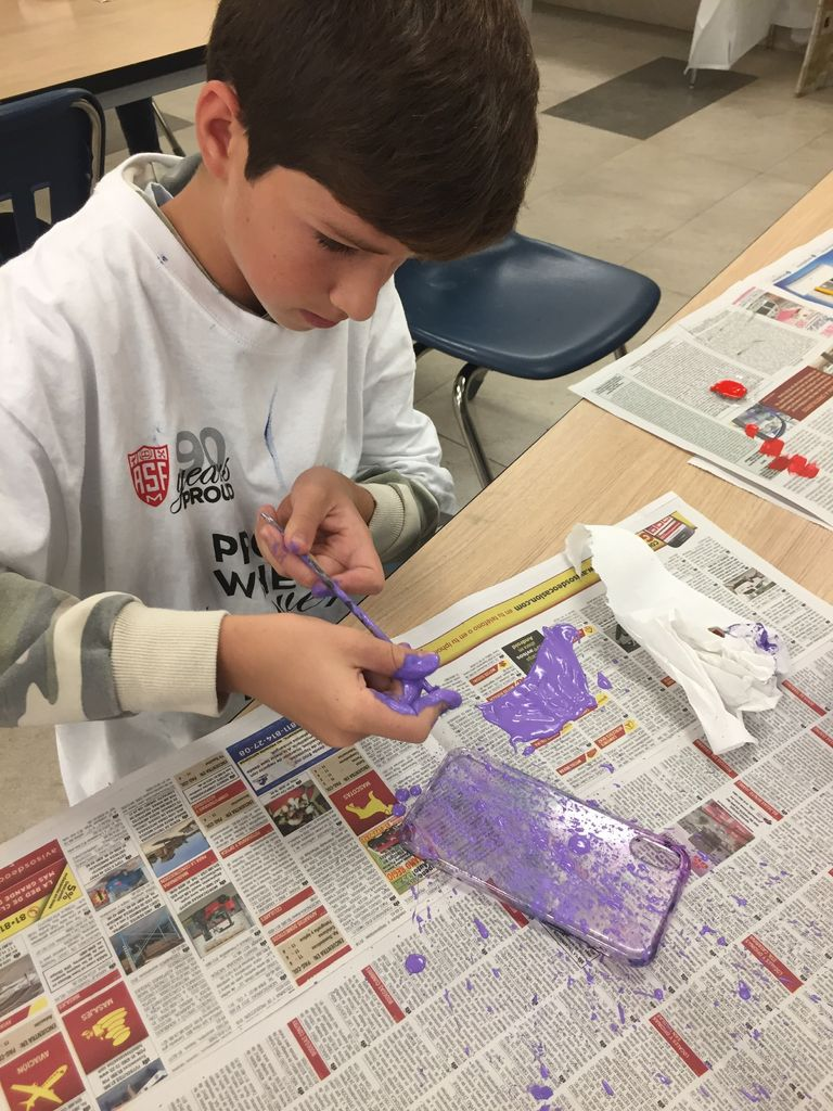 Picture of  Step 1 A: Painting Splatters