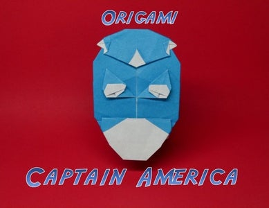 ORIGAMI CAPTAIN AMERICA (with Video!)
