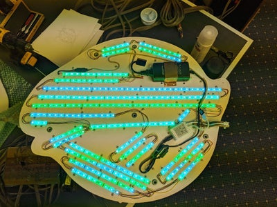 Attach the LED's to the Backer Plate: