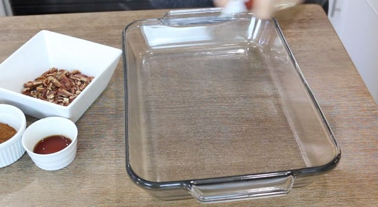 Preheat Oven and Grease Baking Dish
