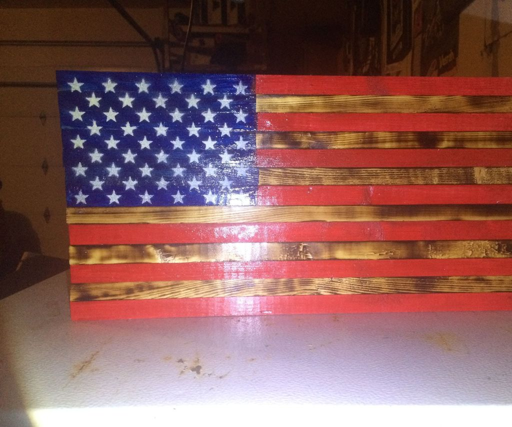 Rustic Wooden Flag