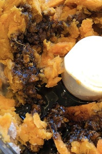 Add Cooked Sweet Potato and Molasses