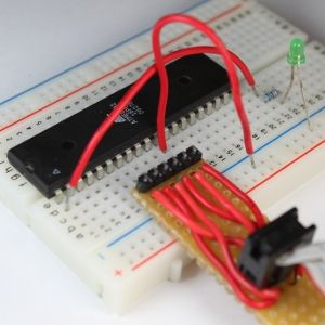 Picture of Beginning Microcontrollers Part 5: Testing the Programmer and Building the First Circuit