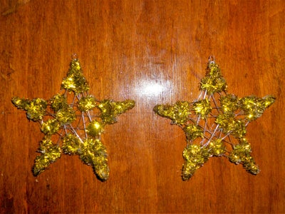 Making Star Earrings From Hot Glue and Fishing Line