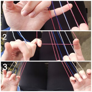 Weave Through String on Right Hand
