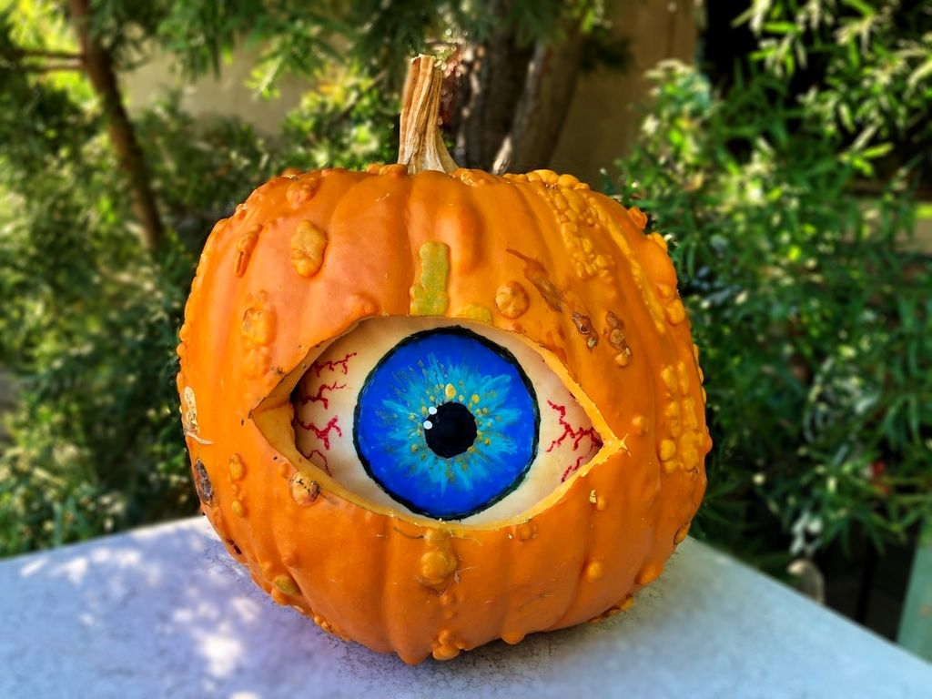 Picture of Spooky Double Pumpkin Eyeball