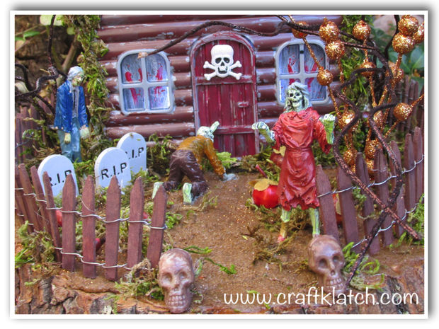 Picture of Haunted Zombie House Halloween DIY