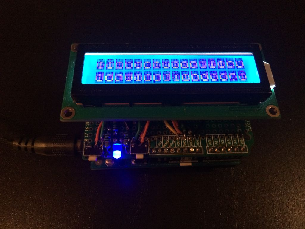 Picture of DIY Arduino Scrolling LCD Text Shield