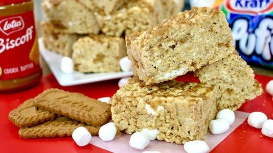 Biscoff Rice Krispies Treats Recipe   5 Ingredients