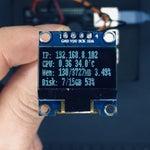 Raspberry Pi Monitoring System Via OLED Display Module