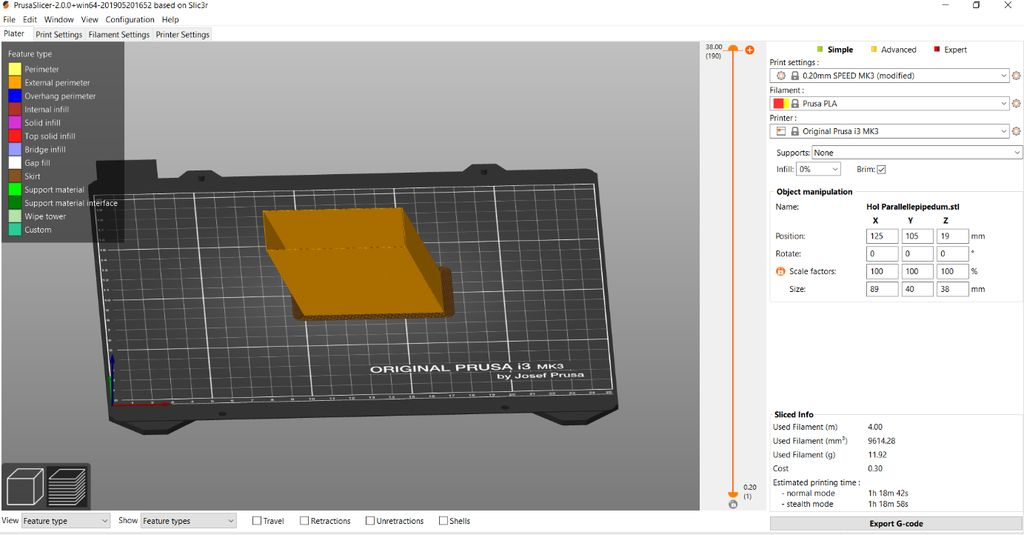 Picture of Printing the Parallelepiped and Testing the Volume