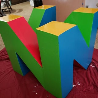 """N"" Table - the N64 Logo End Table"