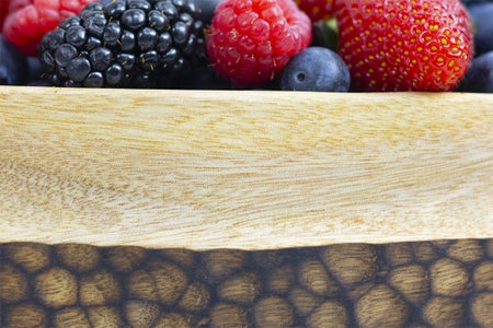 Wooden Berry Bowl