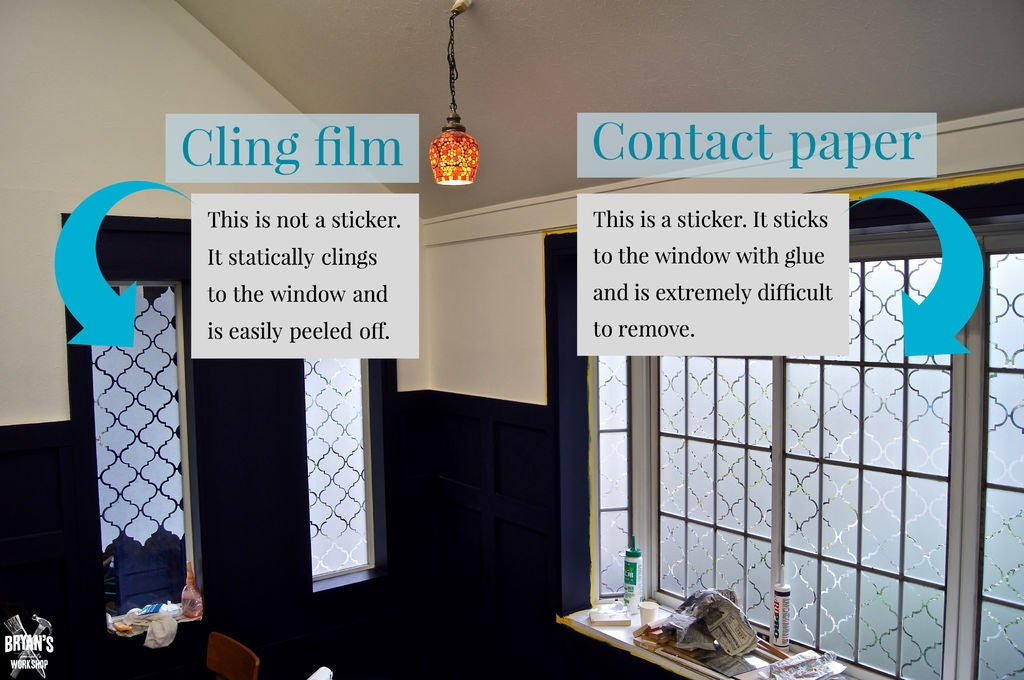 Picture of Cling Film Vs Contact Paper