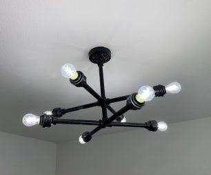 Black Pipe Ceiling Light