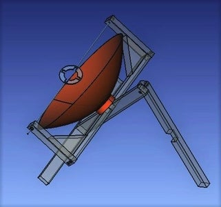 Join the Parabolic Dish to the Wooden Structure