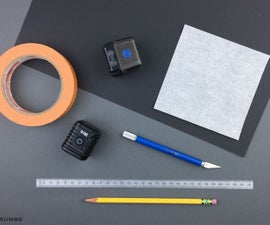 动作轻盈柔光箱和印刷模板