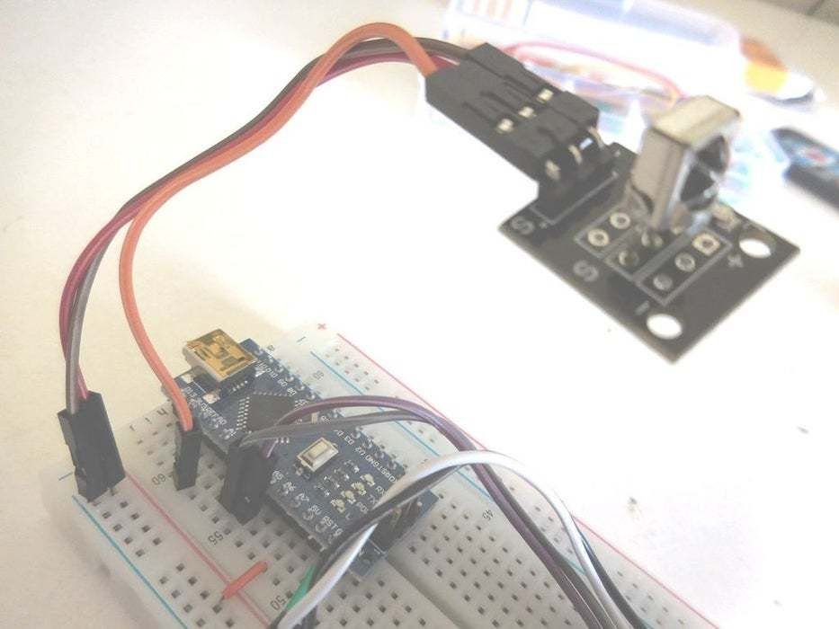 Add the Infrared Receiver and Connect It to the Arduino