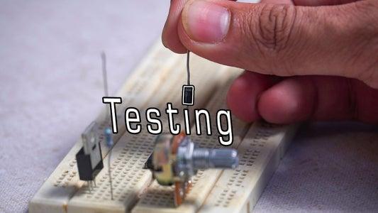 Test Circuit on Breadboard