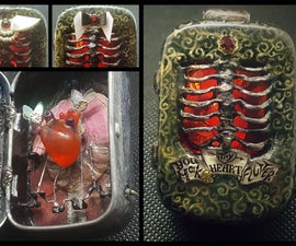 Mini Mint Tin Automaton Pendant/Brooch