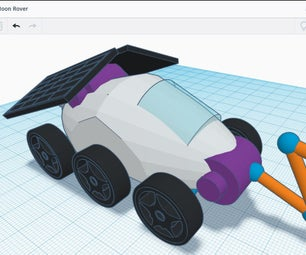 Design a Moon Rover in Tinkercad