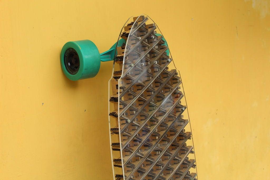 Picture of Quarter Iso-grid Cardboard Longboard